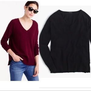 JCrew V-neck Swing Sweater Black XSl